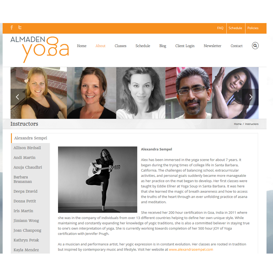 Instructor page