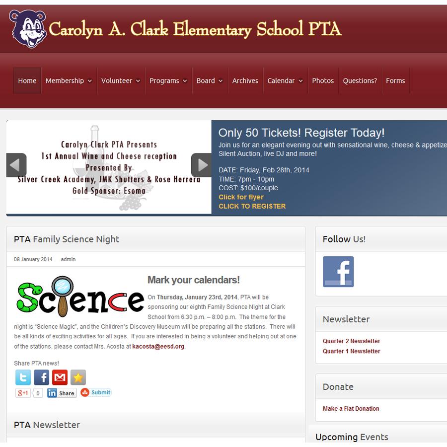 School PTA site