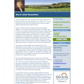 Newsletter for Councilmember