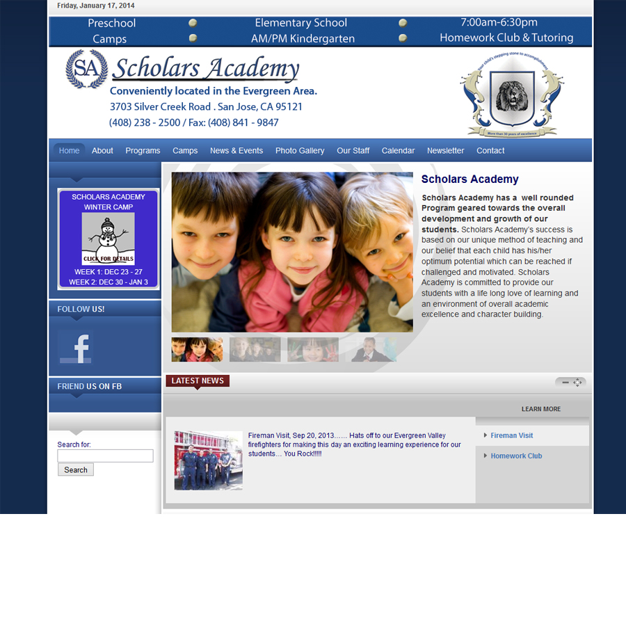 Website for the school