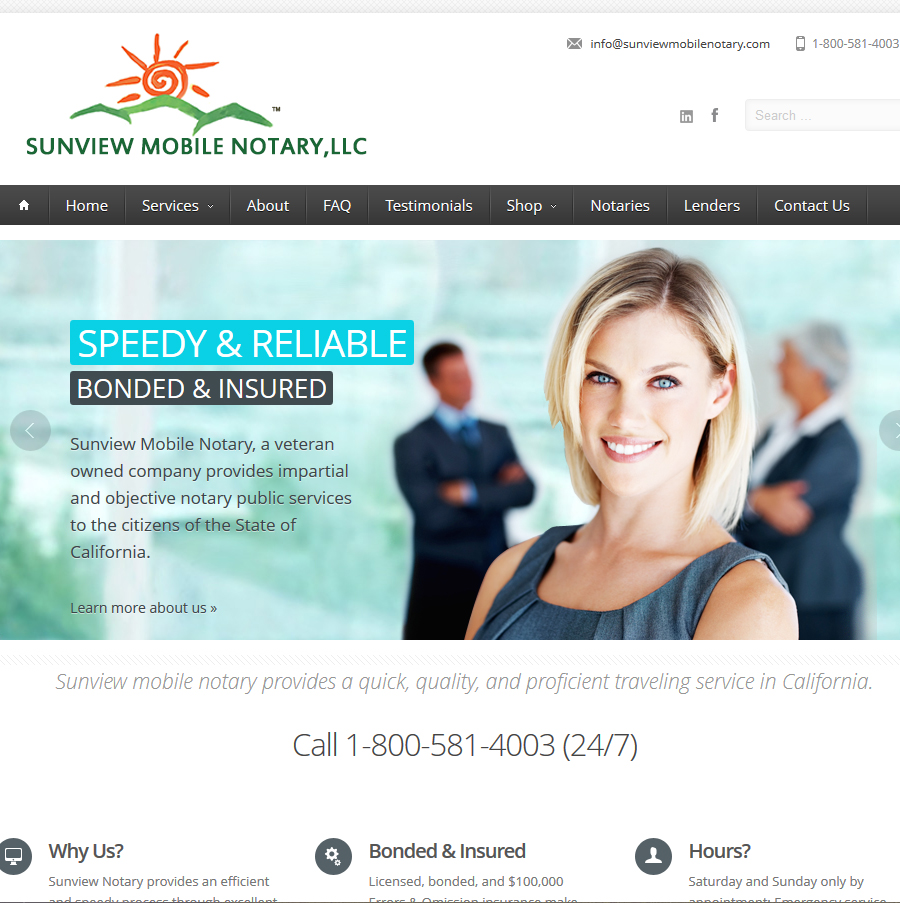 Home Page with logo