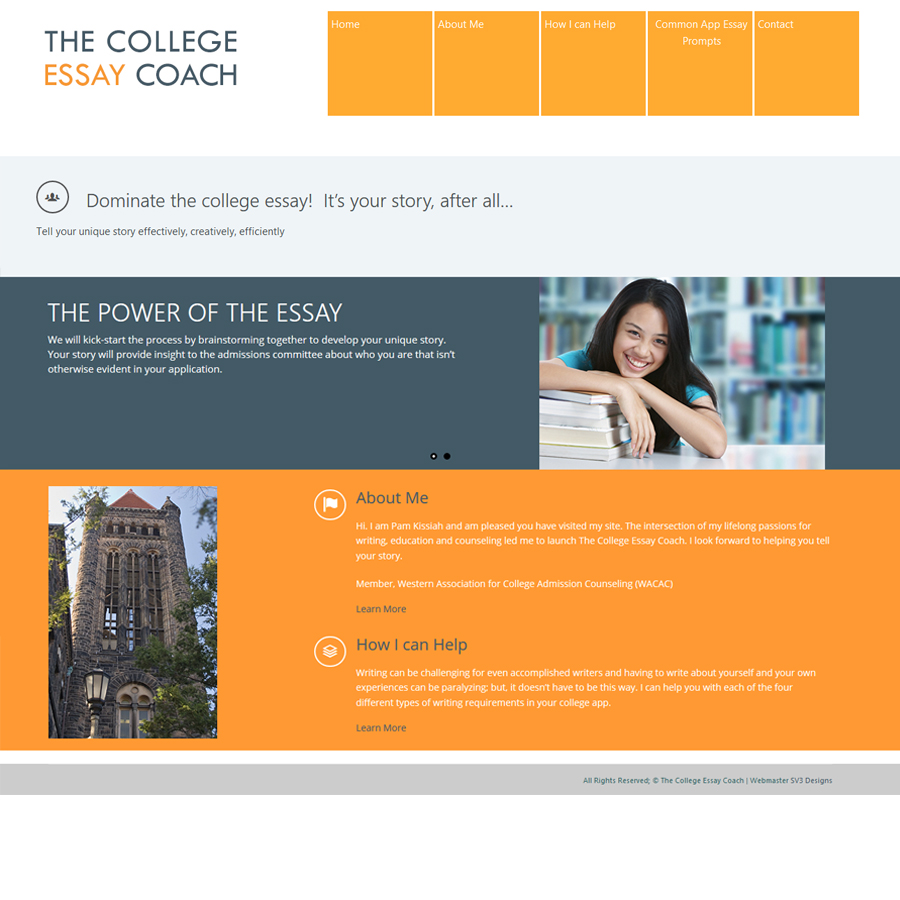 sv designs college essay coach homepage