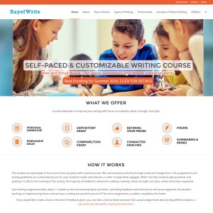 Writing Course website