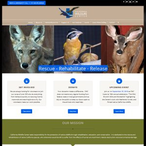 New Website for California Wildlife Center