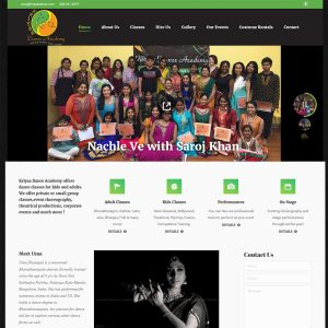 Dance Studio website
