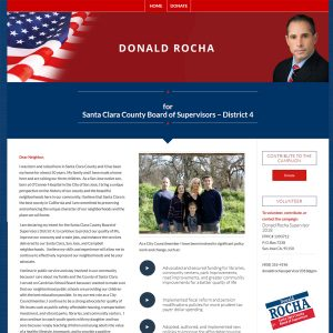 Politician website