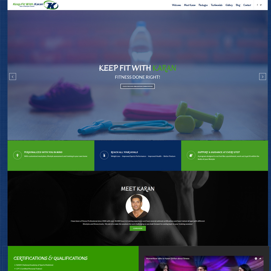 Sv3 designs personal trainer website new homepage 1betcityfo Image collections